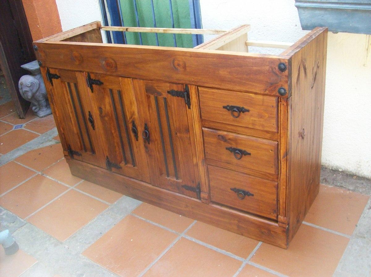 Bajo mesada cocina rustica en mercado libre - Muebles cocina rustica ...