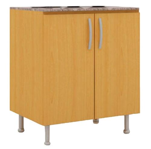 bajo mesada mueble cocina 2 puertas cerejeira czb66
