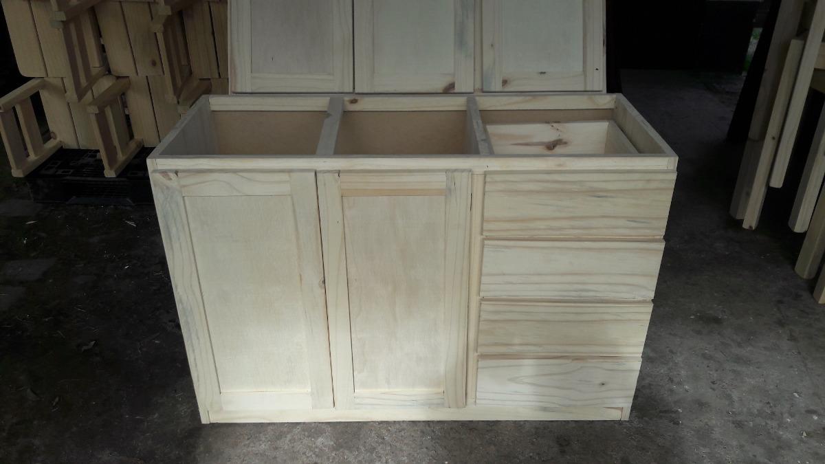 Bajo mesada mueble cocina madera maciza en - Muebles de cocina madera maciza ...