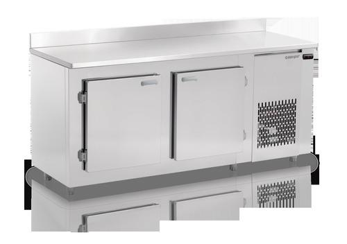bajo mostrador vitrina 2 puertas refrigerador inox gelopar