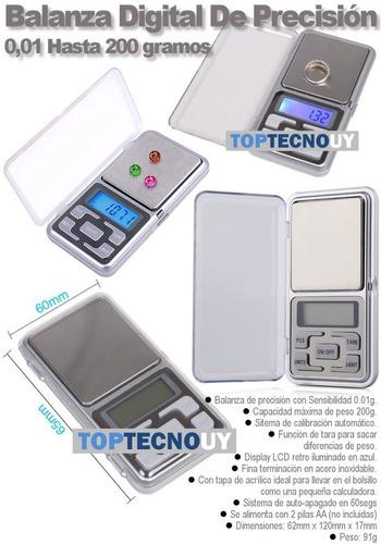 balanza digital de precisión 0,01g hasta 200g de bolsillo ®