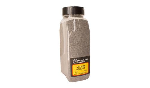balastro medio color gris para vias ho woodland scenics