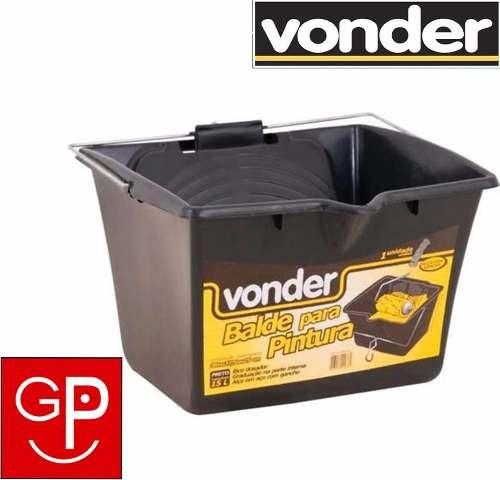 balde con escurridor de pintor plástica 15 litros vonder g p