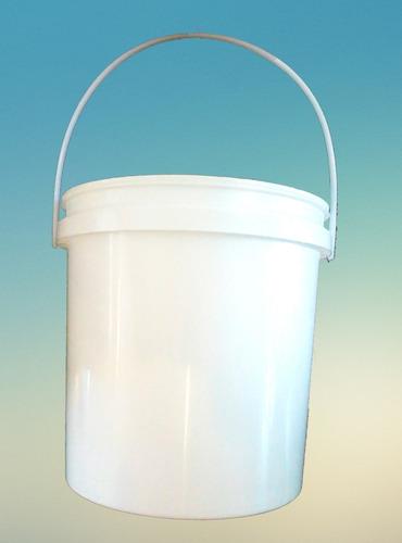 baldes de plástico 10 lts, tarrinas, recipientes blancos