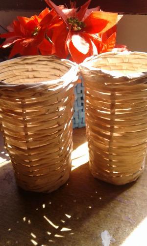 baldes todos los colores medida 8cm x10cm ideal centro/mesa