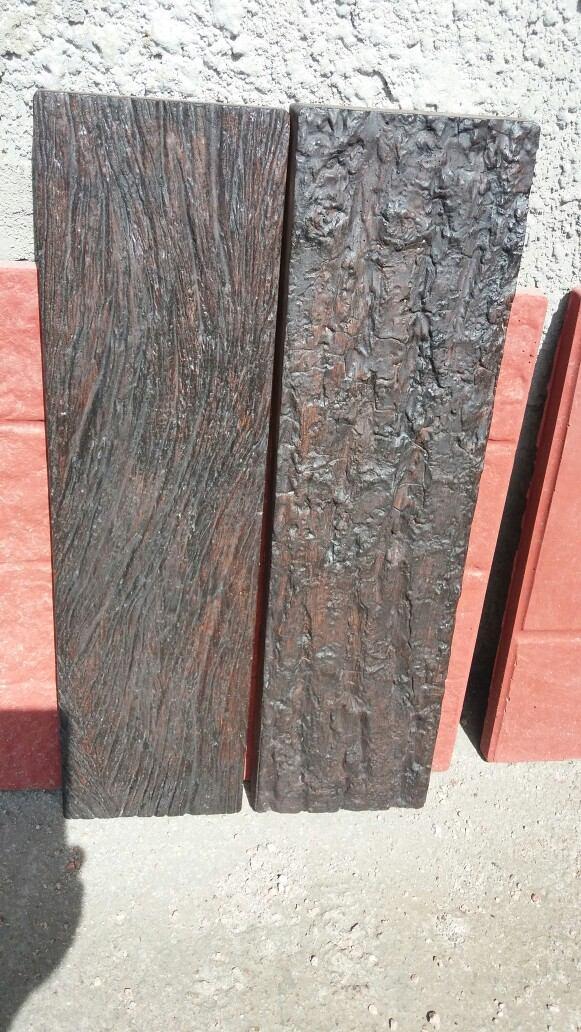 Baldosa hormig n imitaci n madera para revestimiento y - Imitacion madera para fachadas ...