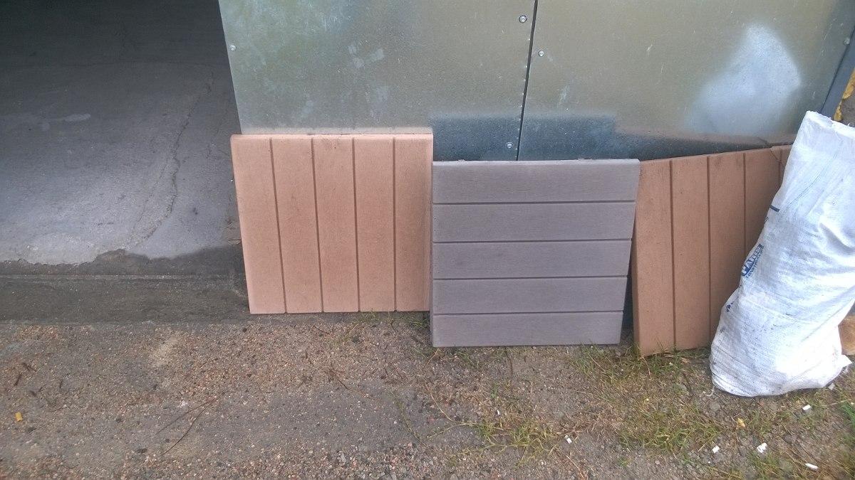 Baldosas exterior simil madera 420 00 en mercado libre - Precios baldosas exterior ...