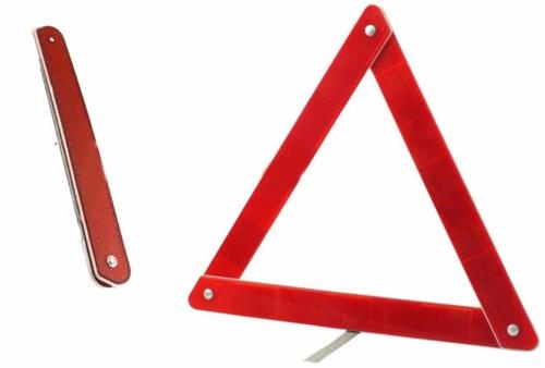 baliza triangulo reflectiva con soporte
