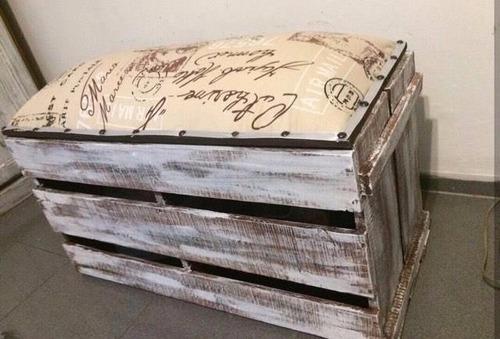banco baul de madera ideal para guardar cosas