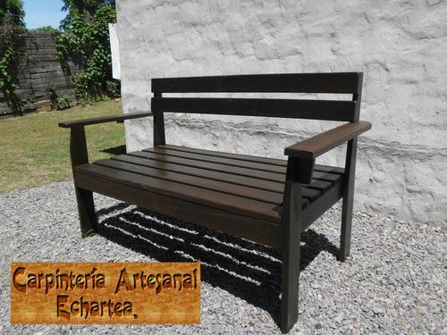 banco en madera tratada para jardin barbacoa