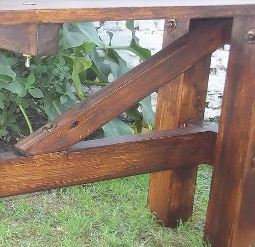 banco  largo madera rusticos jardin barbacoa nuevos