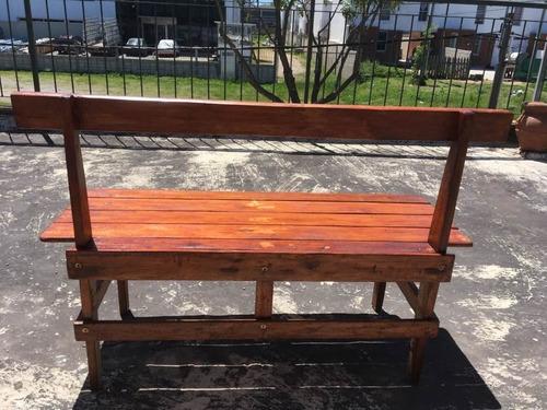 bancos de madera rústicos artesanales