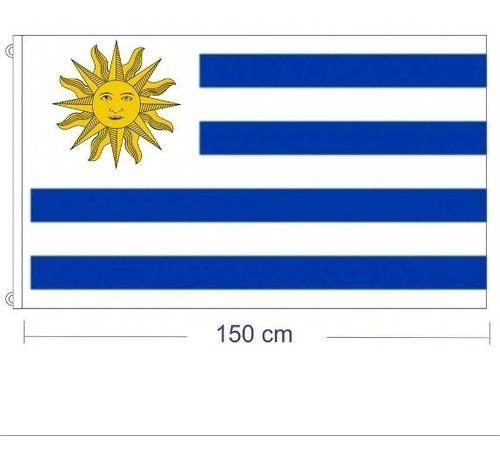 bandera uruguay 1,50 m  x 90 cm tela copa america vs