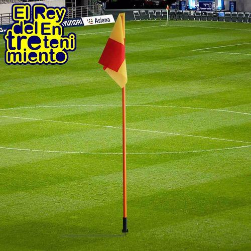 banderín de corner c/ resorte p/ fútbol entrenamiento el rey