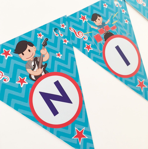 banderín personalizado p/ cumple infantil bautismo comunion