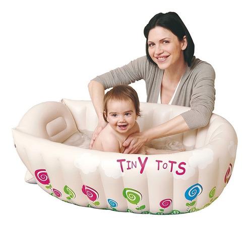 bañera bañito bebe inflable indicador de temperatura