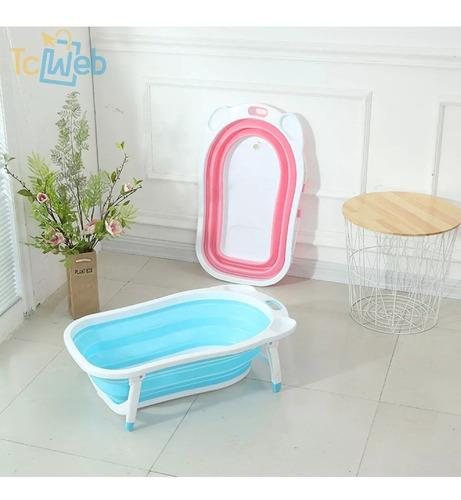 bañera baño bañito bebes plegable niños - rosado tcweb