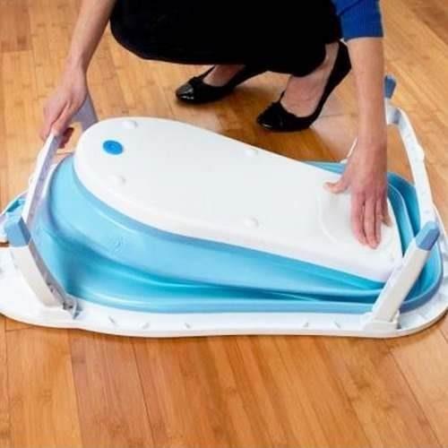 baño bañito bebe & niños eco plegable anti frío azul