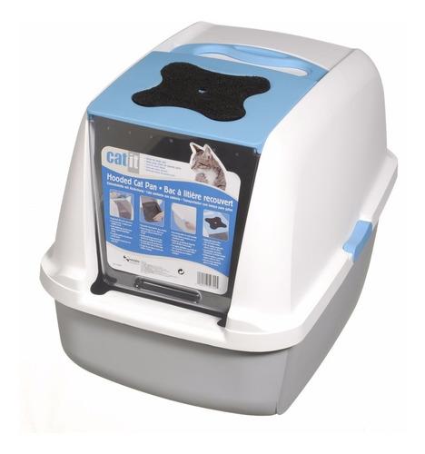 baño sanitario para gato cat it gris