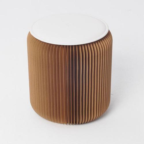 banqueta de papel - novedosa - decorativa tecnológico