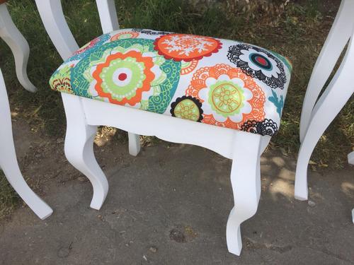 banqueta luis xv tapizada vintage tapizado a elección