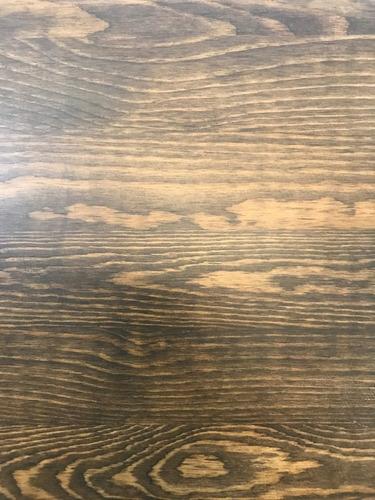 banqueta tolix blanca respaldo y asiento de madera oscura