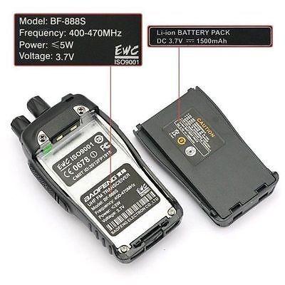 baofeng bf-888s uhf 400-470mhz 5w portátil de dos vías de ra