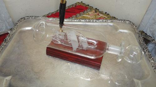 barco en botella traido de inglaterra gran artesania miralo