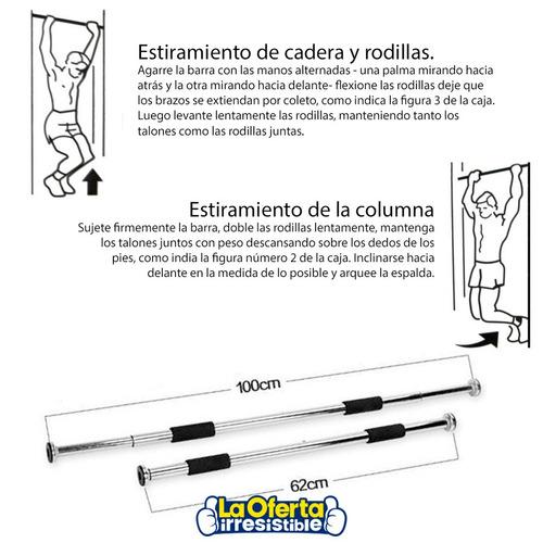 barra de acero cromada extensible para puerta gym oferta loi