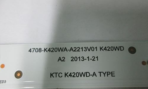 barra de led tv cce lk42d código: ktc k420wd-b