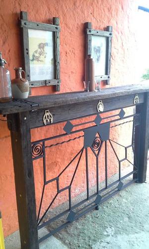 barra de madera dura y hierro liquidooooo
