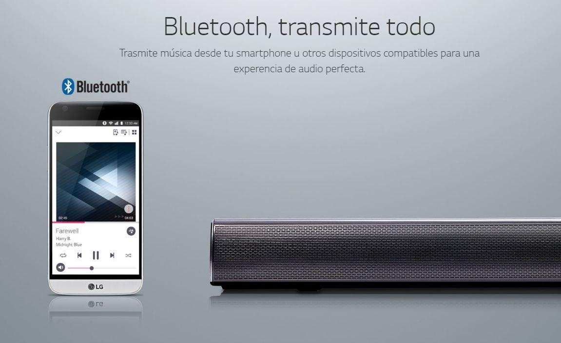 Barra De Sonido Lg Sound Bar Sj2 2 1 160w Usb Bluetooth