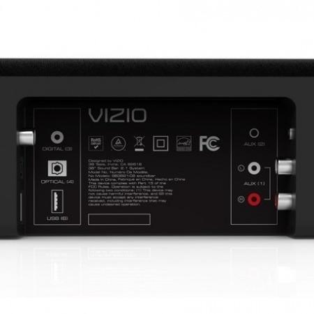 barra de sonido y subwoofer vizio 2.1 c/control remoto