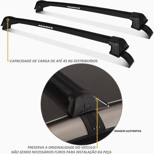 barra de techo aluminio vw gol g6 - g7 sedan 2013-2018 eqmax