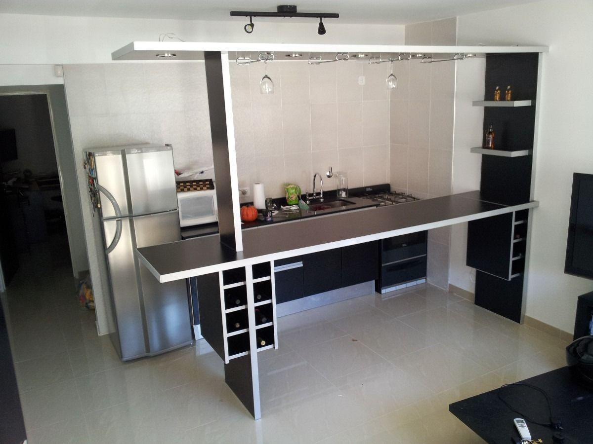 Barras de cocina desayunadores dise o y medidas a for Barras de cocina para espacios pequenos