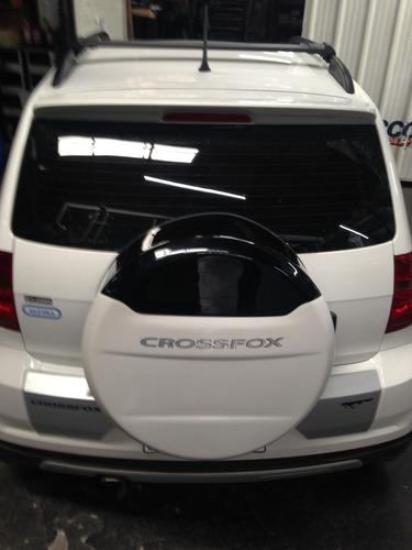 barras de techo aluminio negro volkswagen crossfox