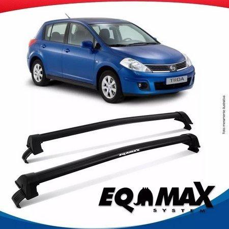 barras de techo eqmax nissan tida hatch 2007/ 2013 gris plat