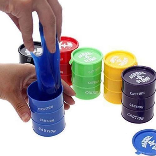 barrel o slime! barril con moco pegajoso! en 4 colores!