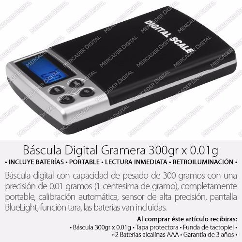 bascula digital gramera 0.01gr x 300gr - 0.01 x 300 gramos
