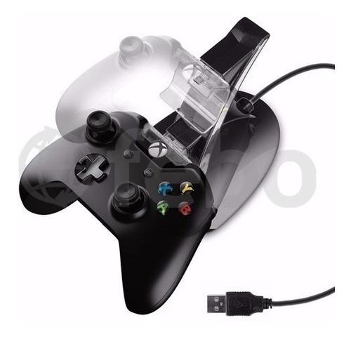 base doble dock cargador para joystick de xbox one
