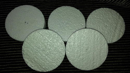 bases circulares espuma plast 10 x 2