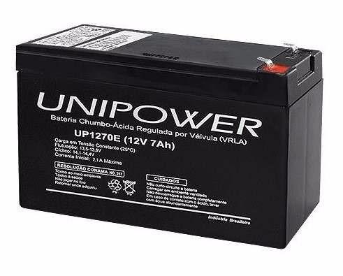 bateria 12v 7ah para no-break - unipower up1270e