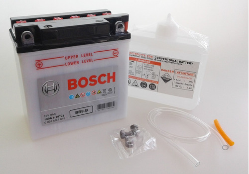 bateria bosch moto con acido 12v 9ah (135x75x139) yb9-b