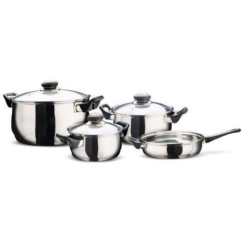 batería de cocina cuori giulia 7 piezas acero inox. - fama