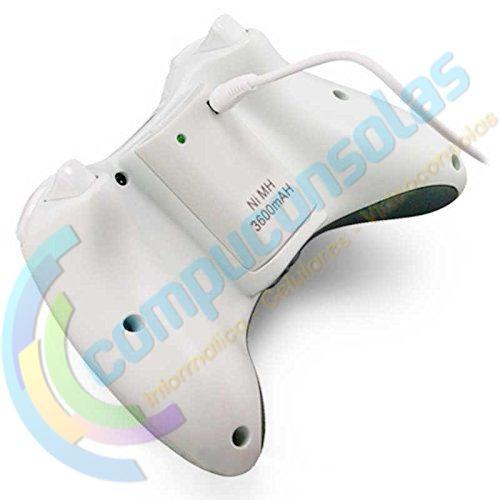 bateria joystick control xbox 360 recargable 3600mah usb