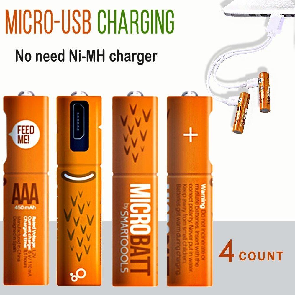 708601bcf4d Bateria - Pilas Recargables Aaa 4 Unidades Micro Usb - U$S 31,00 en ...