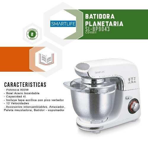 batidoras batidora planetaria smartlife sl-bp9043  fama