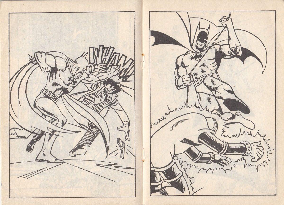 Batman 1989 Libro Para Colorear Sylvapen Argentina Dc Comics - $ 200 ...