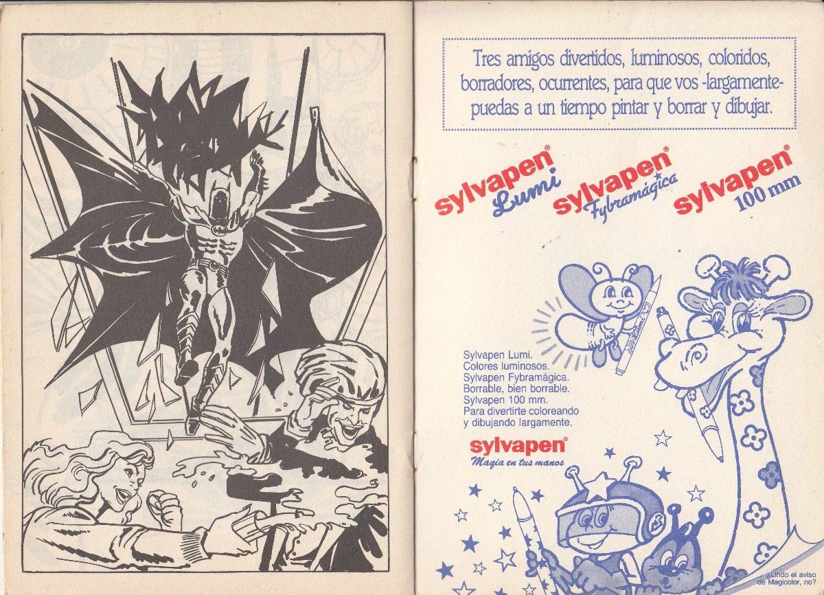 Batman 1989 Libro Para Colorear Sylvapen Argentina Dc Comics 200 00