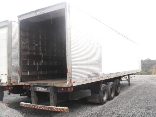 baú seco randon 15,40 m. 2008 com 12 pneus novos